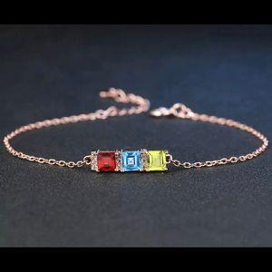 3 Gemstones & Gold Plated Bracelet 101300
